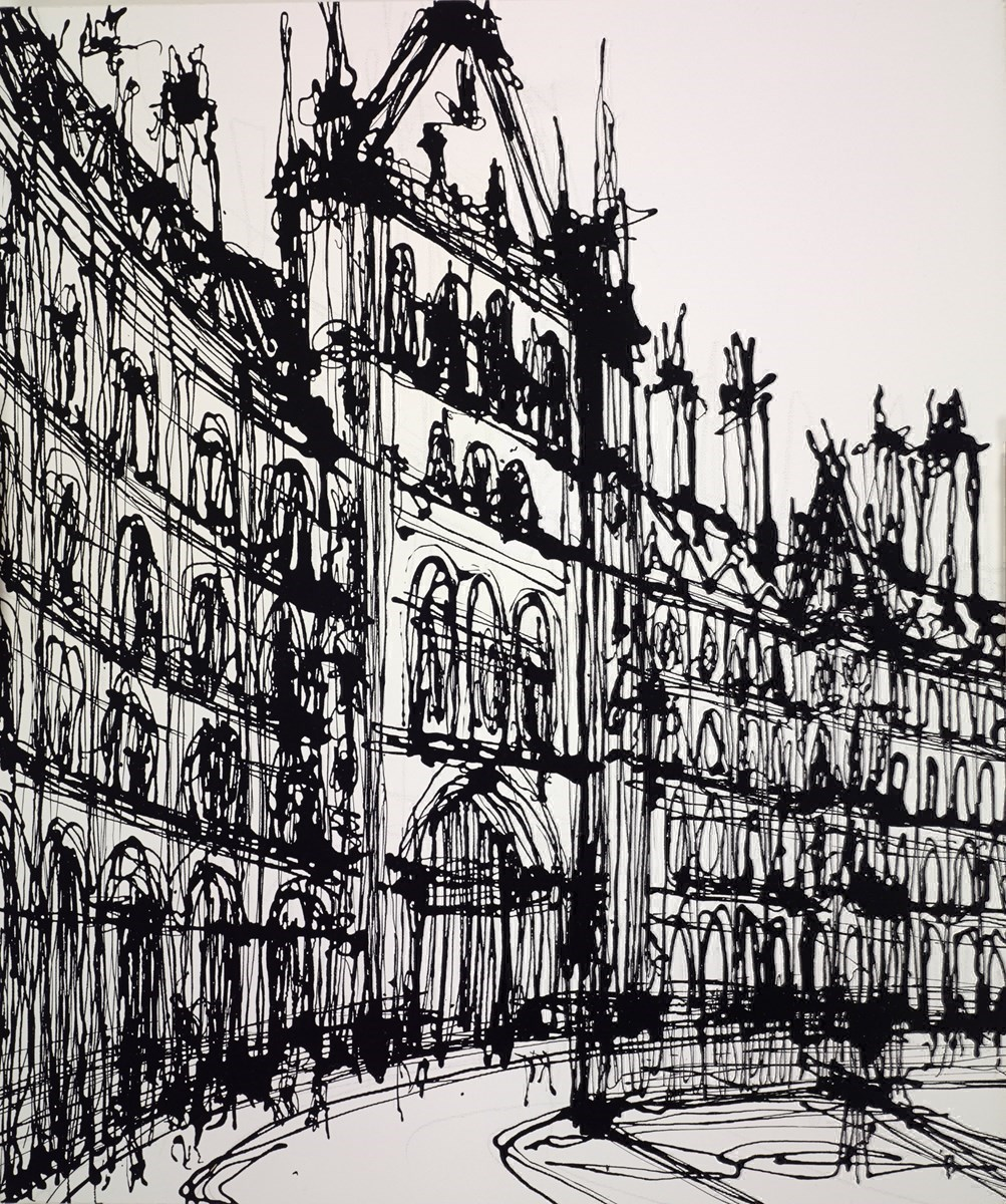St Pancras Gate to the North by Ingo -  sized 20x24 inches. Available from Whitewall Galleries